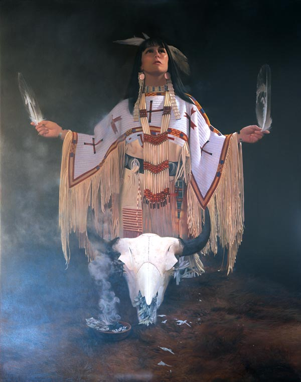 White Buffalo Calf Woman - Original Oil Painting by Don Crowley