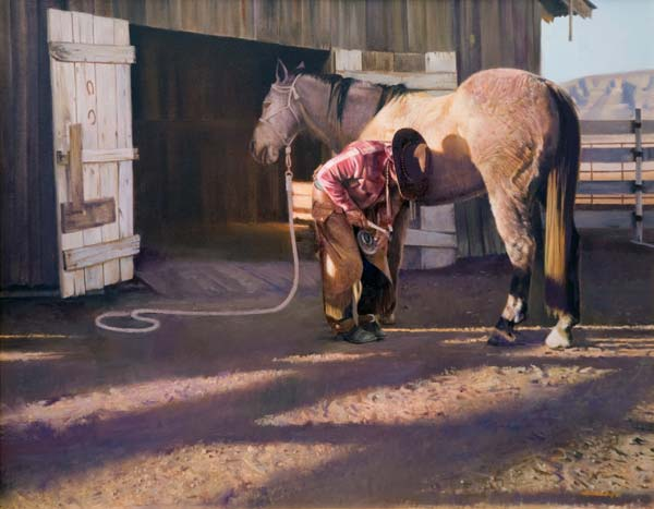 Shoe Barn - Original Oil Painting by Don Crowley